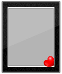 Designer Black Photo Frame with Heart