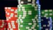 Casino chips stacks.