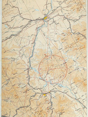 Air navigation map fragment 1924