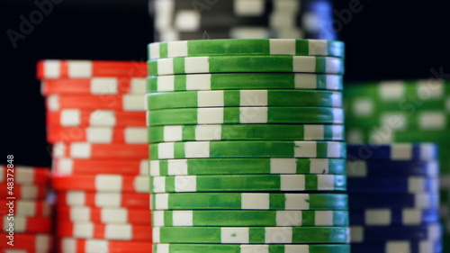 Casino chips stacks.