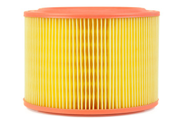 Auto air filter isolated on a white background