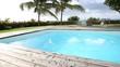 Man diving in private swimming-pool