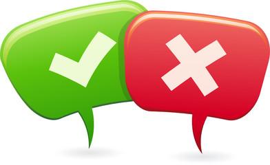 Personnages bulle en conversation pour ou contre