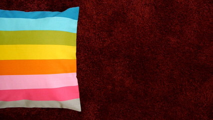 Colorful scatter cushion.