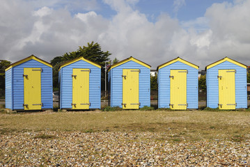 Beach huts. Littlehampton. Sussex. UK