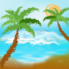 Abstract colorful  sea background.Exotic resort