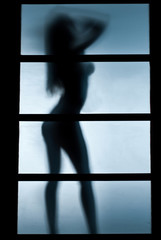 Silhouette of Woman in the bedroom