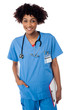 Young medical doctor woman