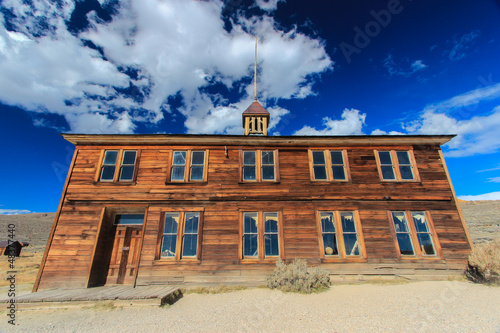 Bodie Ghost Town, Sierra Nevada, California - the school