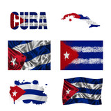 Cuban flag collage