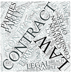Contract law Disciplines Concept