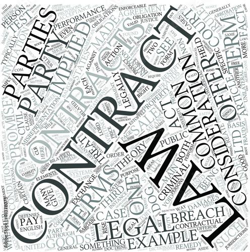 Contract law Disciplines Concept
