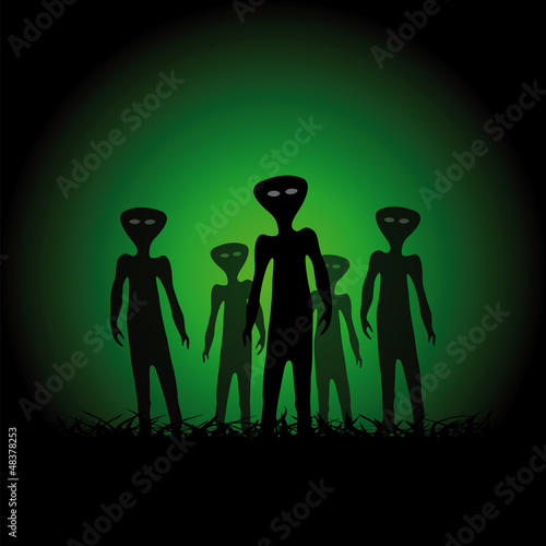 Silhouettes of aliens