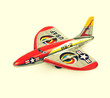 retro tin aeroplane