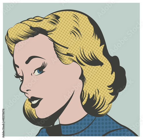 Pop Art Woman vector illustration - 48378676