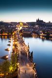 View of Vltava river with Charles bridge in Prague - Fine Art prints
