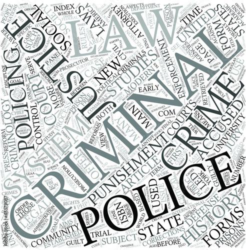 Criminal justice Disciplines Concept