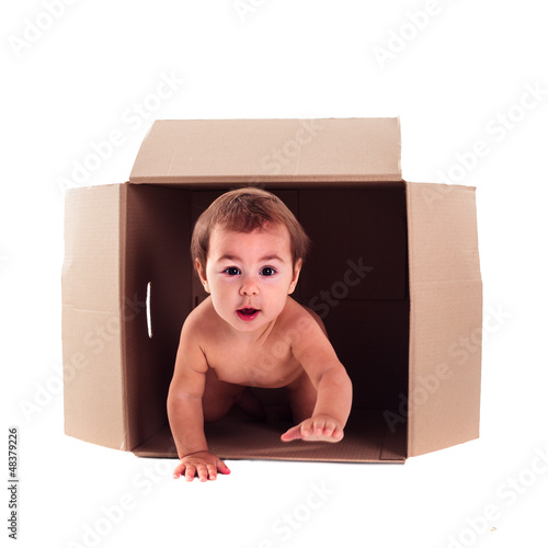 Baby and the box