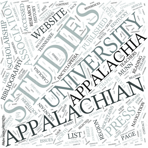 Appalachian studies Disciplines Concept