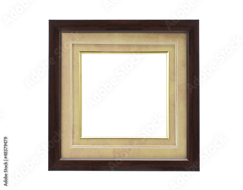 frame isolated on white background with clipping path
