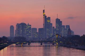 Frankfurt Skyline at Twilight