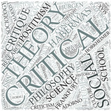 Critical theory Disciplines Concept poster
