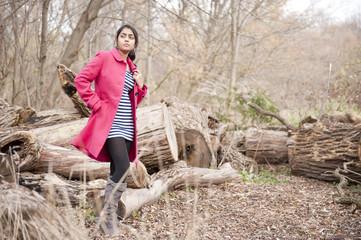 Girl student in outdoor