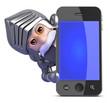 Knight hides behind smartphone