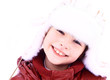 Portrait of a smiling girl in winter.