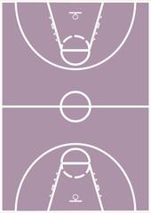 Basketballfeld Hochformat