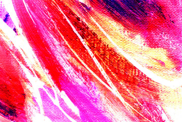 Abstract pink painting by oil on canvas, illustration, backgroun
