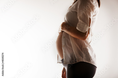 Pregnant woman's belly