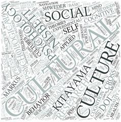 Cultural psychology Disciplines Concept