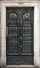Venice, old building door