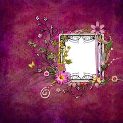 Vintage framework for invitation or congratulation - quickpage