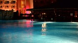 The swimming pool in night illumination