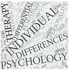 Differential psychology Disciplines Concept