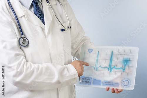 Doctor showing ecg