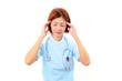 頭痛に苦しむ女医