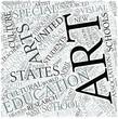 Art education Disciplines Concept