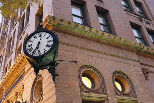 Zdjęcia na płótnie, fototapety, obrazy : Clock in downtown of Norfolk