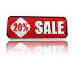 20 percentage off sale red banner