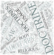 Doctrine Disciplines Concept