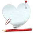 Love Heart Message Paper-Cuore di Carta Messaggio d'Amore