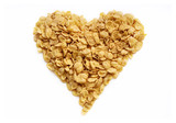 tasty heart from cornflakes