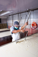 Cheese factory worker