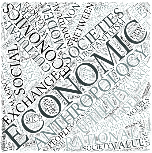 Economic anthropology Disciplines Concept