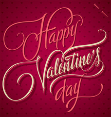 HAPPY VALENTINE'S DAY hand lettering (vector)