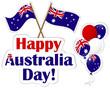 Australia Day stickers.