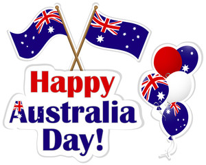 Australia Day stickers.